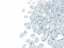Heap of Blue Diamonds. Blue Diamonds on white background with place for your text Stock Images