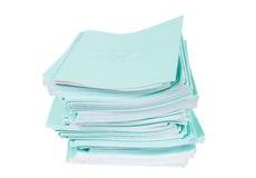Heap of blue notebooks Royalty Free Stock Image