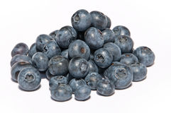 A heap of blueberries. (lat. Vaccinium Myrtillus) isolated on white background stock photos