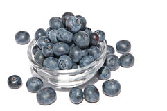A heap of blueberries in a bowl Stock Photo