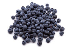 Heap of blueberries isolated on white Stock Photography