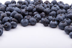 Heap of blueberries isolated on white Royalty Free Stock Photos