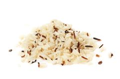 Heap of boiled rice stock photo