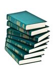 Heap of books of green color Stock Photography