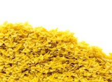 Heap of bowtie pasta Stock Images