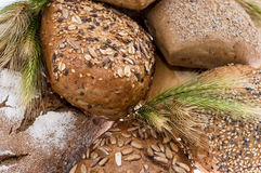 Heap of bread - Macro view Royalty Free Stock Photos