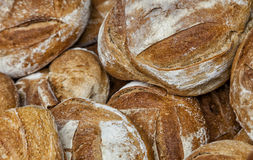 Heap of Breads. Close-up image of a heap of fresh French campaign breads Stock Photography