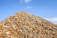 Heap of brick rubble Stock Photo