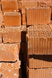 Heap of bricks. Stock Photo