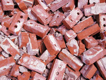 Heap of bricks Stock Photo