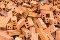 Heap of bricks Royalty Free Stock Images