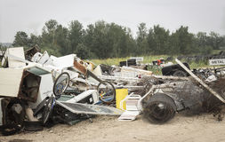Heap of broken and used appliances and scrap metal. Stock Photography