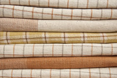 Heap of brown cotton fabric Royalty Free Stock Image