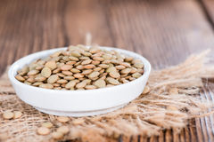 Heap of brown Lentils Stock Image