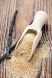 Heap of Brown Vanilla Sugar Royalty Free Stock Photography