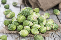 Heap of Brussel Sprouts Royalty Free Stock Images