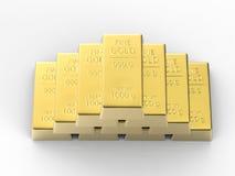 Heap of bullions. On white background stock illustration