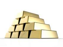 Heap of bullions. On white background vector illustration