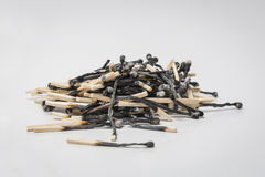 Heap of burned matches Royalty Free Stock Image