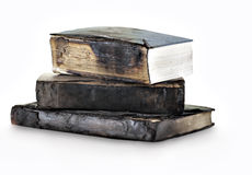 Heap of burnt books Stock Photos