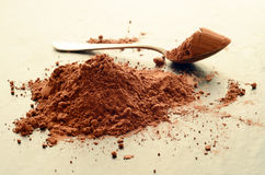 Heap of cacao powder Stock Photo