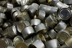 Heap of canned fish Royalty Free Stock Photos