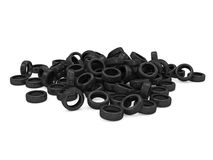 Heap of Car Tires. On white background vector illustration