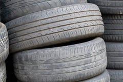 Heap of car tires stock photography