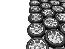 Heap of Car Wheels Royalty Free Stock Photography