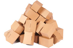 Heap cardboard boxes Stock Photo