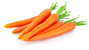 Heap of carrots vegetable isolated on white background Royalty Free Stock Images