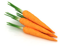 Heap of carrots on a white Royalty Free Stock Photos