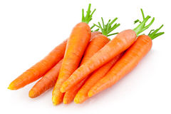 Heap of carrots  on white background Royalty Free Stock Image