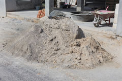 Heap of cement mortar. Cement mortar for the background Royalty Free Stock Photography
