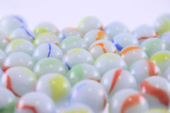 Heap of ceramic multi-coloured balls. Removed close up Stock Photo