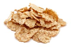 Heap of cereal on white background. Heap of cereal isolated on white background royalty free stock photos