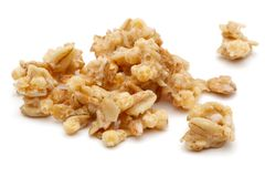 Heap of cereal on white background. Heap of cereal isolated on white background royalty free stock photo