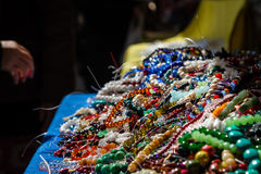 Heap of cheap jewelry Royalty Free Stock Images