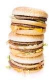 Heap of cheeseburgers Royalty Free Stock Image