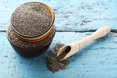 Heap of chia seeds Royalty Free Stock Images