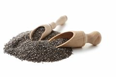 Heap of chia seeds Royalty Free Stock Image