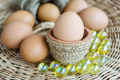 Heap of chicken eggs, easter eggs Royalty Free Stock Photo