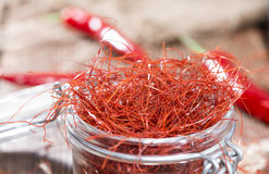 Heap of Chilli Strings Stock Photos