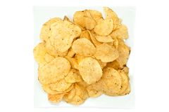 Heap of chips Royalty Free Stock Image