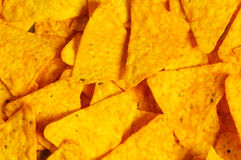 Heap of chips arranged Royalty Free Stock Photos