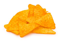 Heap of chips isolated Royalty Free Stock Photography