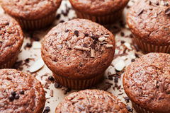 Heap of chocolate muffin on sweet background. Stock Photography
