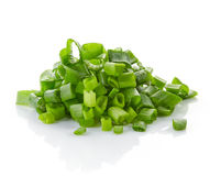 Heap of chopped spring onions Stock Photos
