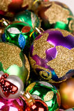 Heap of Christmas baubles close up Stock Image