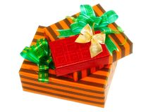 Heap of Christmas,New Year colour gift boxes. Stock Image